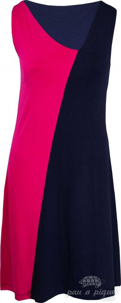Vestido diagonal - REF: 9992295 PINK / MARINHO - XL