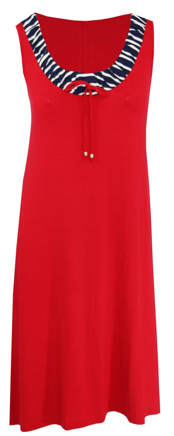 Vestido Pau a Pique franzido Vermelho VERMELHO - XL