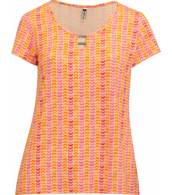 Blusa Pau a Pique estampada Laranja, Geométrica Estampado - For her: Clothes