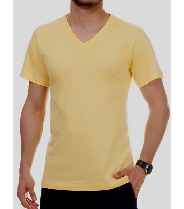 d301ae528 Camiseta básica Masculina com decote V - Pau a Pique