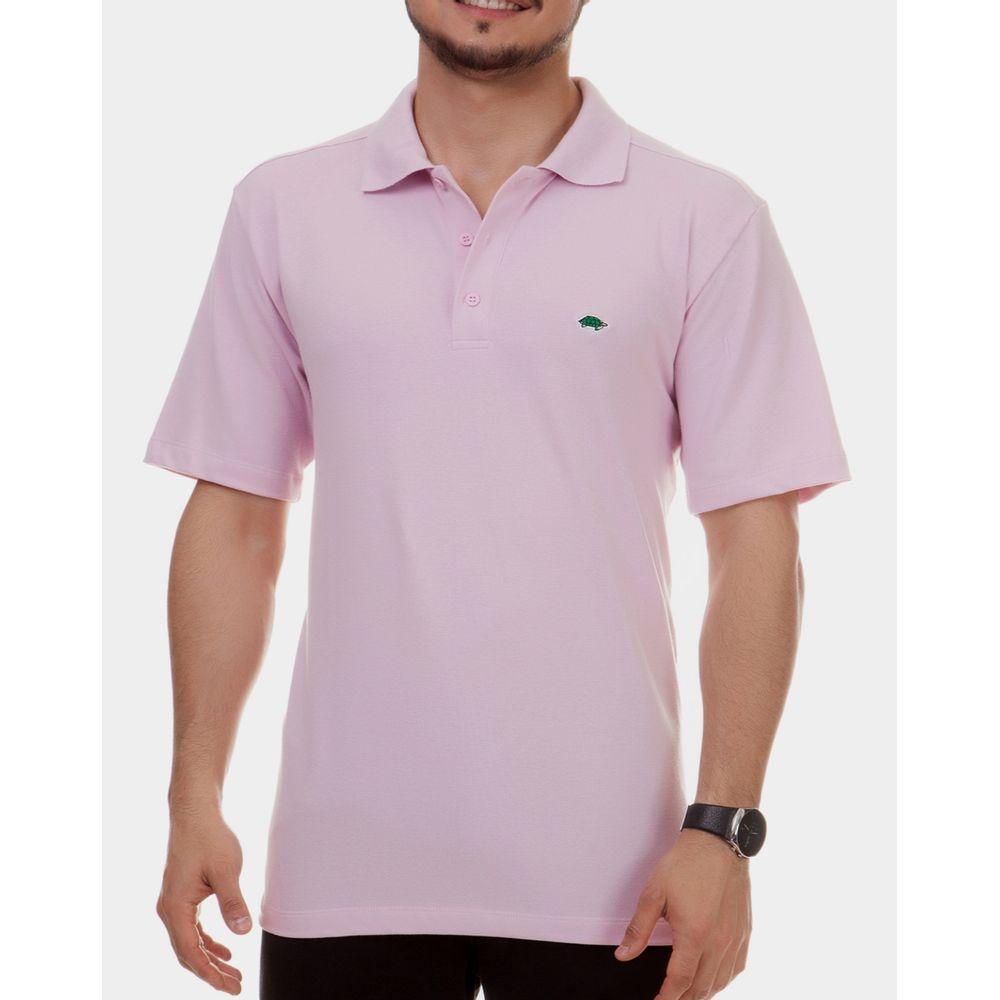 195a37a4800d9 Camisa polo básica masculina - Pau a Pique