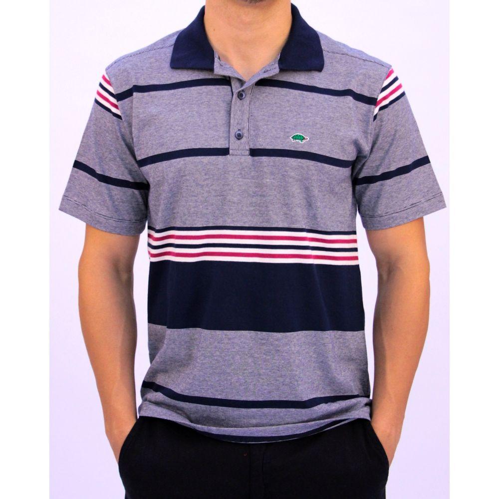 c97c824419 Camisa polo listrada masculina - Pau a Pique