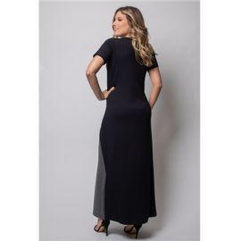 Vestido-longo-manga-curta-bicolor-viscolycra-pau-a-pique 8970-CHUMBO-V